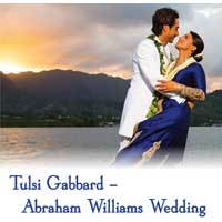 Tulsi Gabbard Abraham Williams Wedding TITAL 1