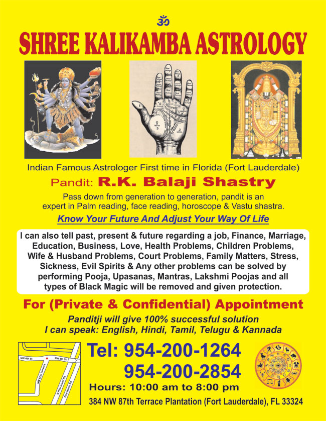 Balaji Shastri-Shree Kalikamba Astrology