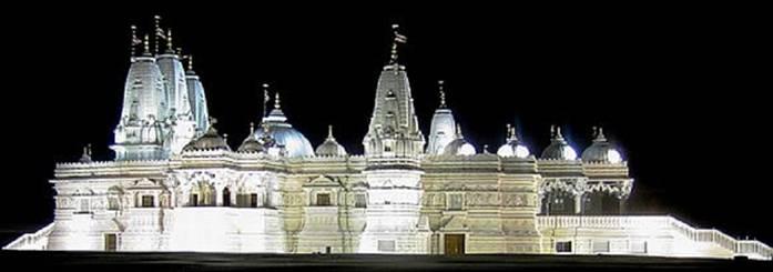 The BAPS Swaminarayan Mandir Complex in Bartlett, Chicago