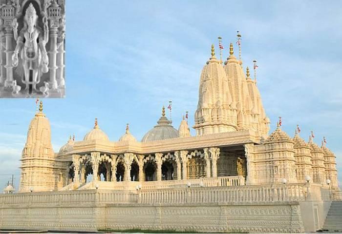 The Swaminarayan Mandir in Houston