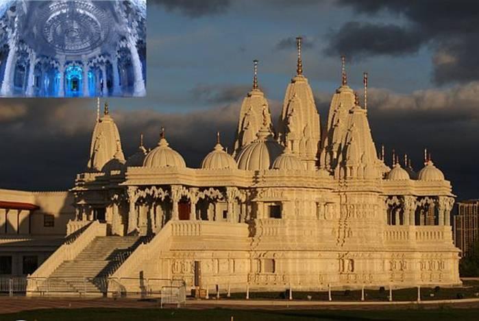 The Swaminarayan Mandir complex in Toronto, Canada