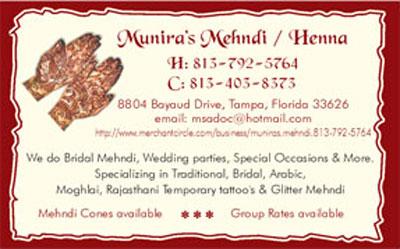 Munira's Mehdi / Henna