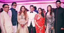 Amitabh Bachchan, Aishwarya Rai, Abhishek Bachchan at pre-wedding photoshoot with Karan & Bipasha