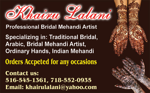 Bridal Henna Artist khairu Lalani