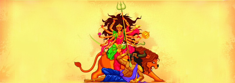 Bengalis worship the Goddess Durga during Navratri as Durga Puja
