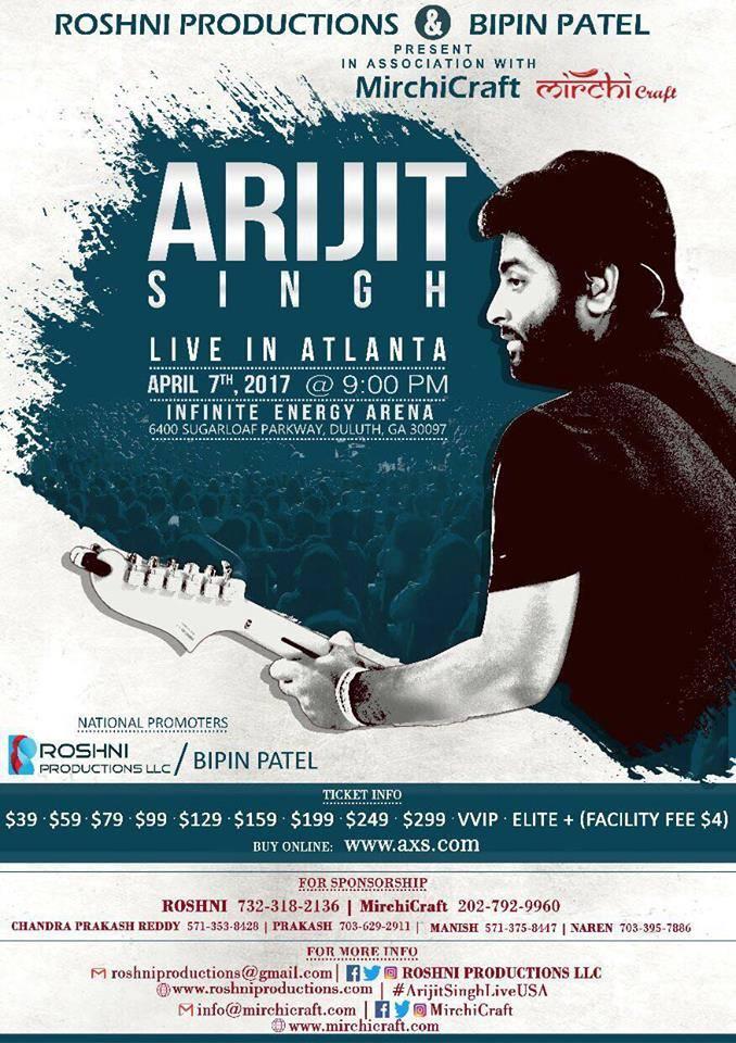 Arijit Singh Live in Atlanta