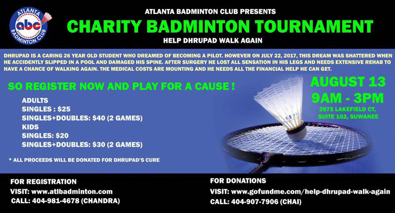 Charity Badminton Tournament for Dhrupad