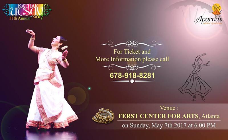 Aparna's Dance Academy: Kathak Utsav 2017
