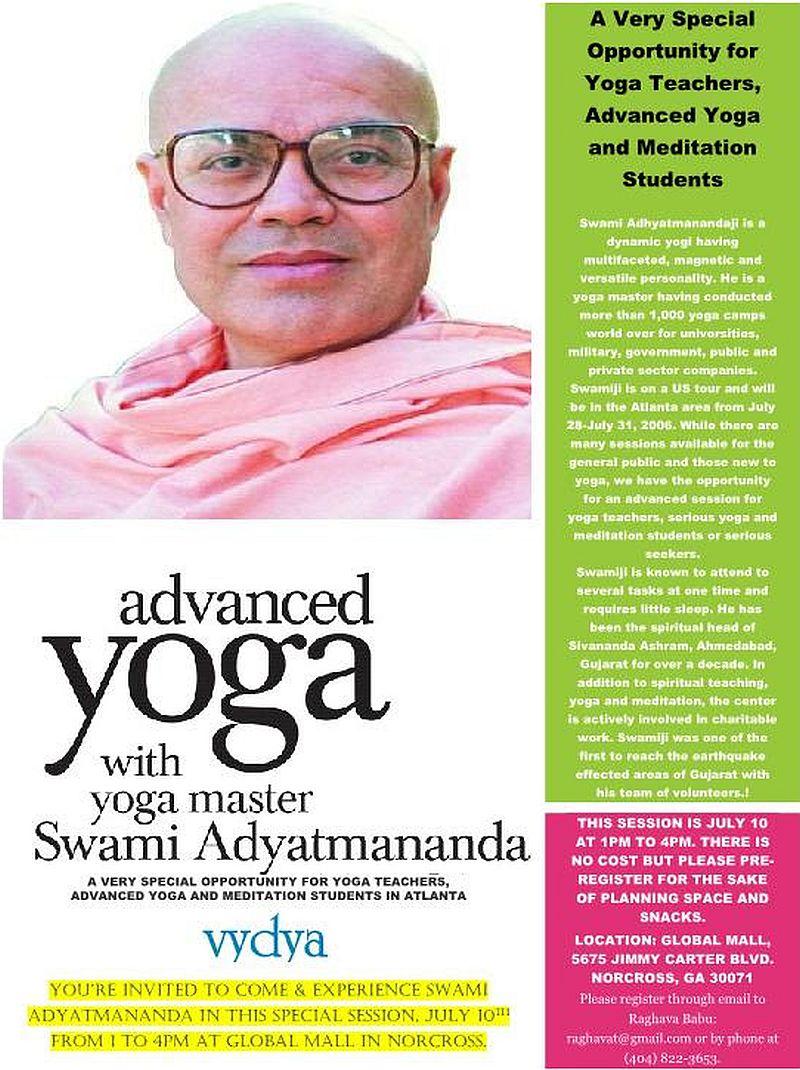 Advanced Yoga By H. H. Swami Adhyatmanandji