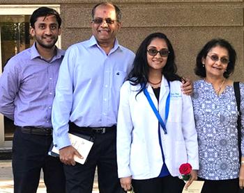 Jitubhai Patel, his wife Sarita, son Kushal, and daughter Devi