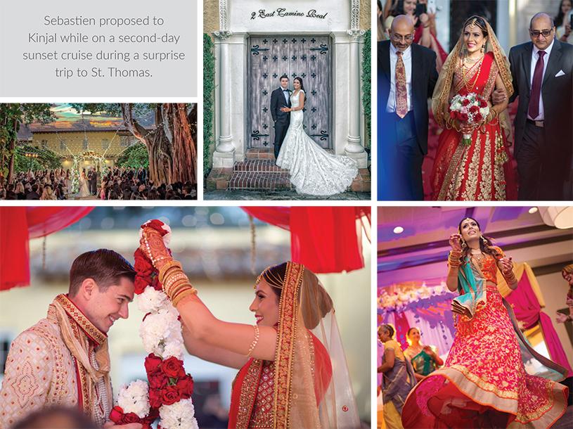 Sangeet, Mahendi, Wedding Ceremony of Kinjal and Sebastien