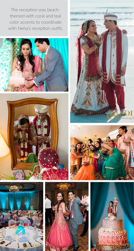 Wedding and Reception photographs of Neha and Tejas