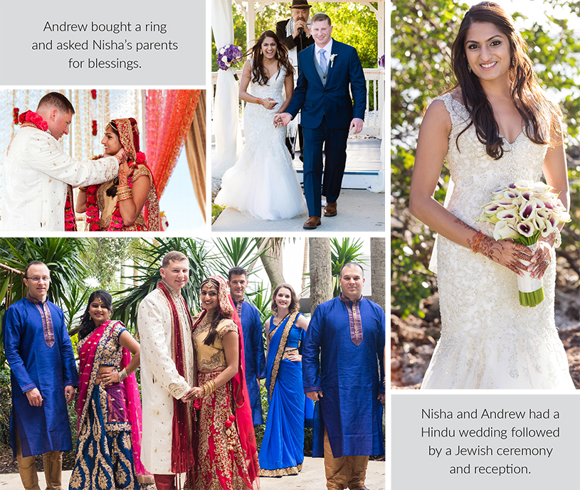Wedding and Reception of Nisha and Andrew