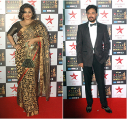 63rd Jio Filmfare Award 2018: Irrfan Khan and Vidya Balan Win Best Actor and Actress Awards