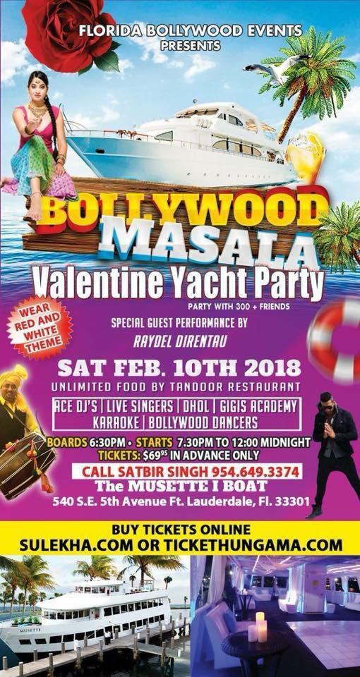 Bollywood Masala Valentine Yacht Party