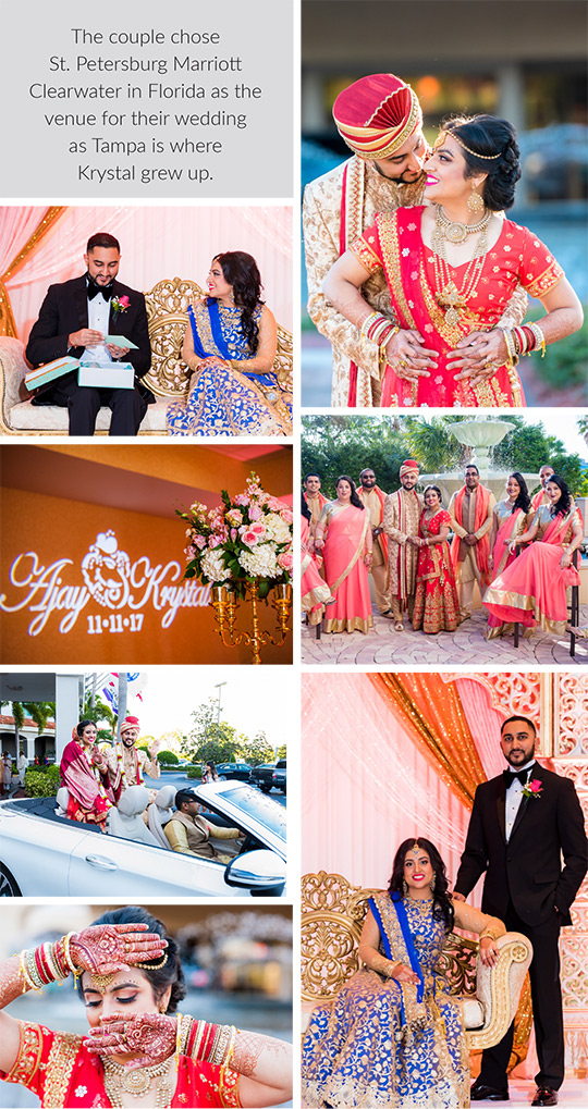Wedding and Reception of Krystal and Ajay