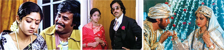 Sridevi had a long career span of almost five decades.