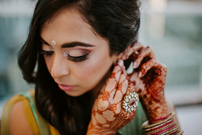 Indian Bride Getting Ready for Sangeet Capture