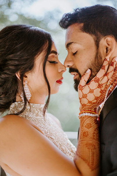 Romantic Indian Bride and Groom Capture
