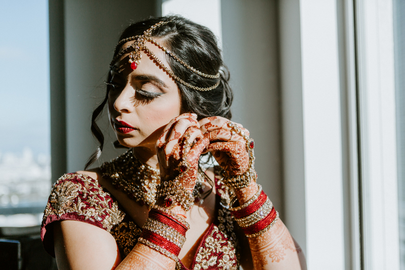 Gorgeous Indian Bride getting ready for her Wedding