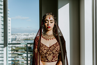 Indian Bride ready for her Wedding Capture