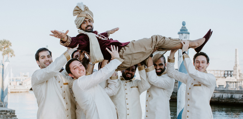 Funny Moment of Indian Groom with Groomsmen