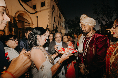 Welcoming Indian Groom for Wedding