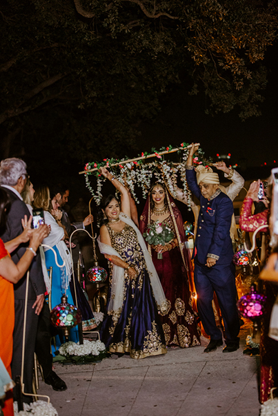Indian Bride's Grand Entrance