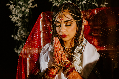 Indian Bride Capture During Wedding Ceremony