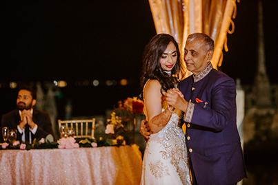 Indian Bride Dance with Her Father