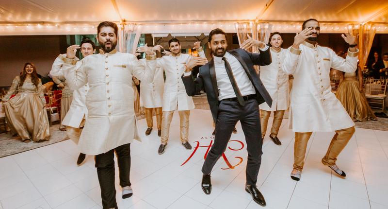 Indian Groom's Dance Performance at His Reception Ceremony