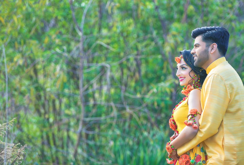 Fabulous Indian Couple's Haldi Photo Shoot