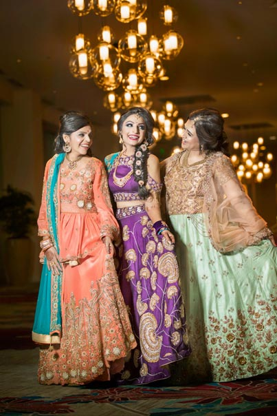 Indian Bride with her Mother and Mother in Law at Photo session
