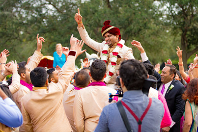 Indian Groom's Baraat Procession