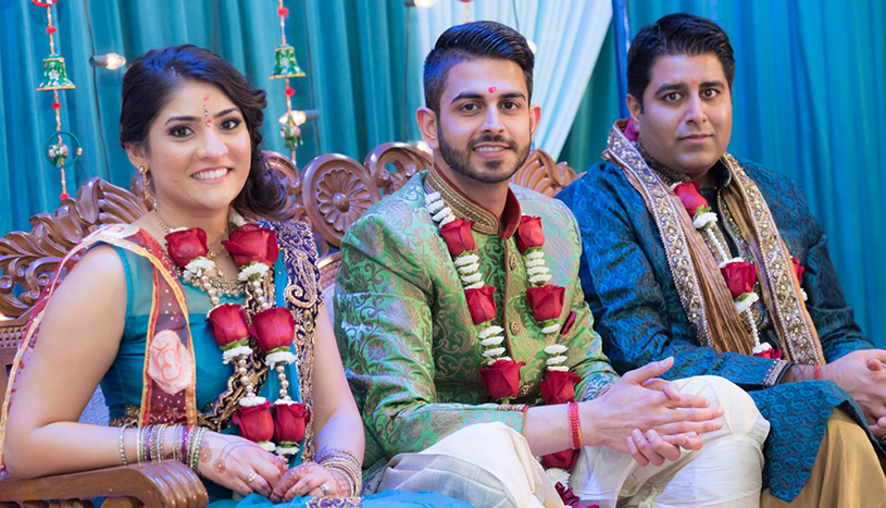 Indian Groom in Sangeet Outfit with Cousins Capture