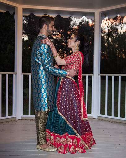 Indian Bride and Groom Outside Photoshoot