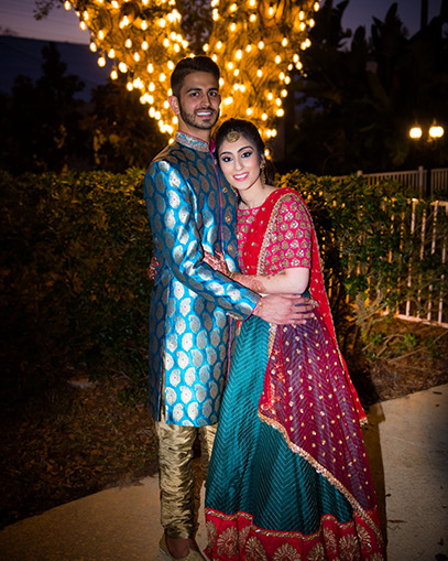 Indian Bride and Groom Themed Outdoor Photoshoot