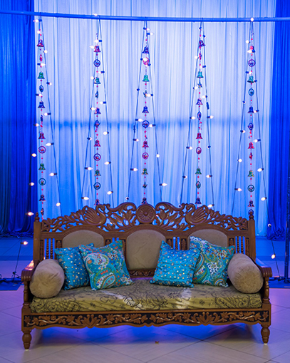 Marvellous Zula Decoration for Sangeet Ceremony