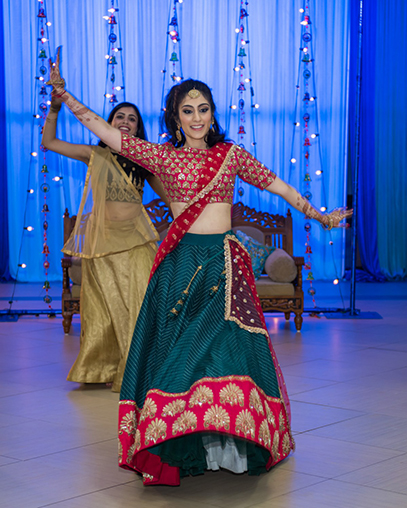 Indian Bride's Dance Performance During Sangeet