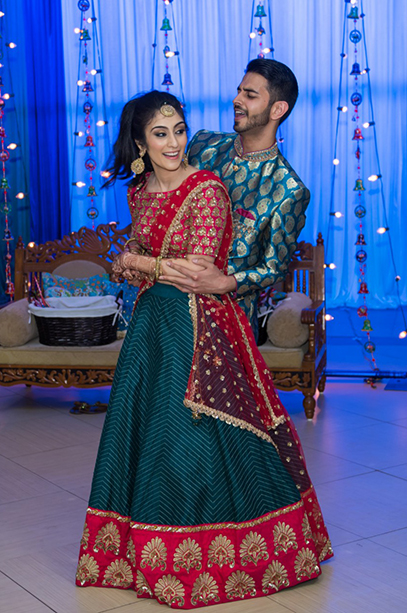 Indian Bride and Groom's Dance Performance During Sangeet Ceremony