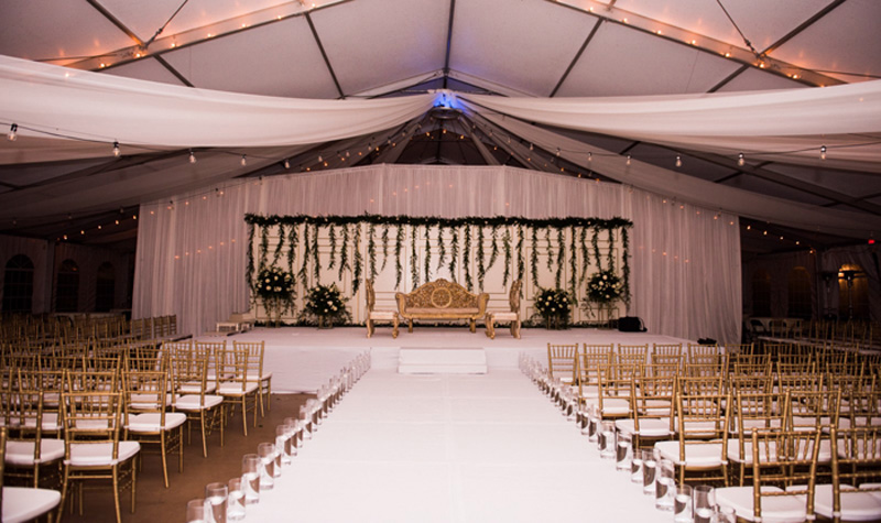 Indian Wedding Mandap Decoration by Maharani Designs at Hilton Ocala