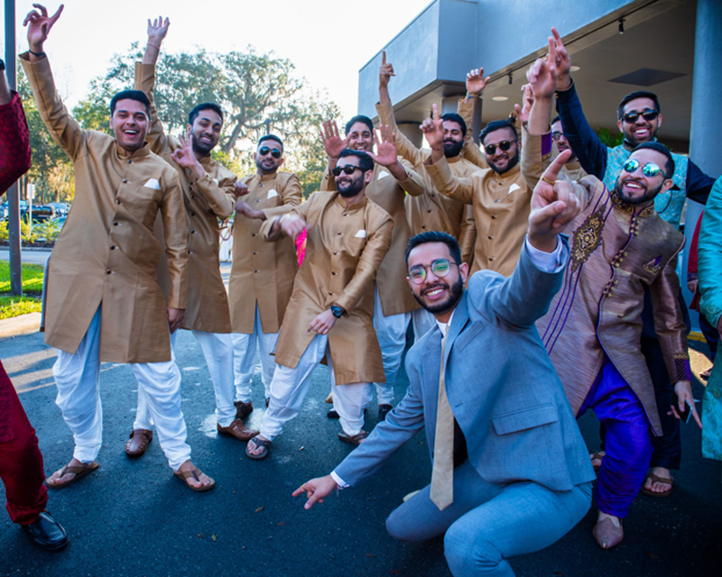 Indian Groom Dancing in Indian Groom's Baraat