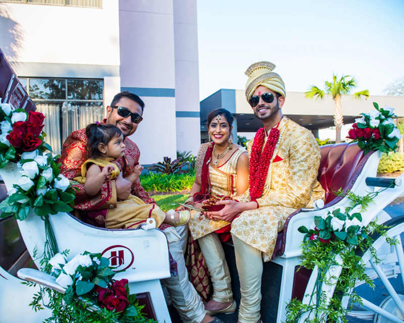Indian Groom Sitting in Horse Carriage PhotoGraphy