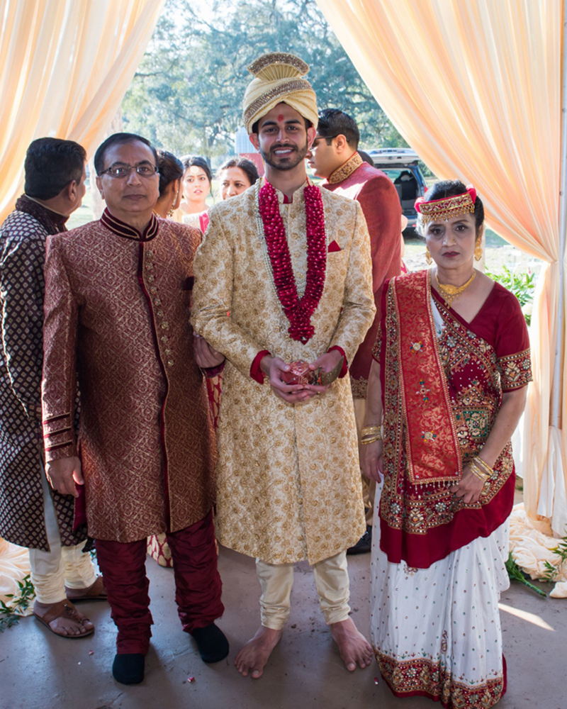 Indian Groom With his Mother in Law and Father in Law Capture