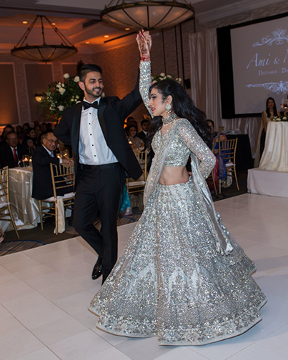 Indian Bride and Groom's First Lovely Dance