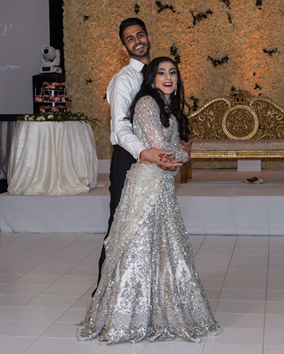 See the Indian Couple Dancing At their Reception Ceremony