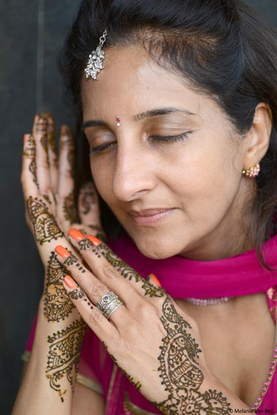 Indian Bride Capture in her Mehndi Art