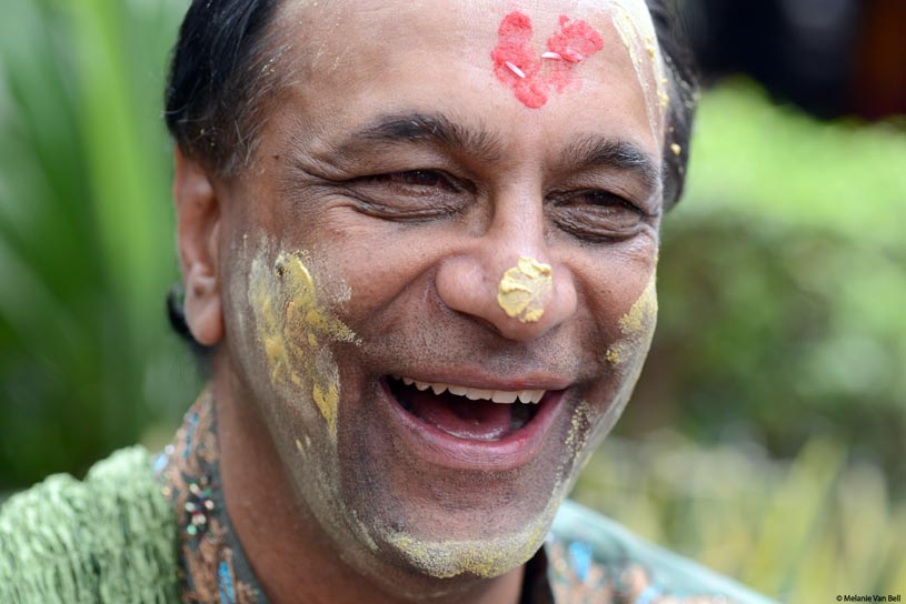 Haldi Ceremony - Indian Groom getting the Turmeric Paste on his head