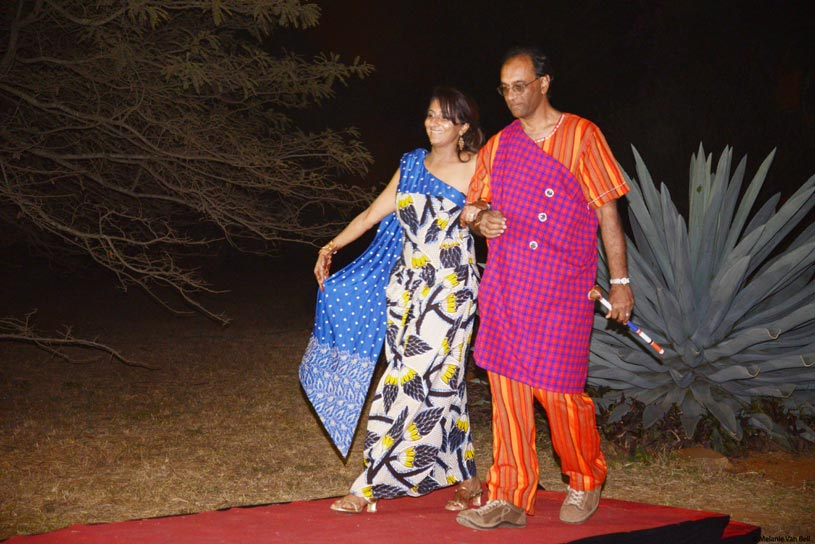 Indian Bride and Groom ready for Pre-wedding event Koroga night