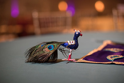 Indian Wedding Peacock Decoration